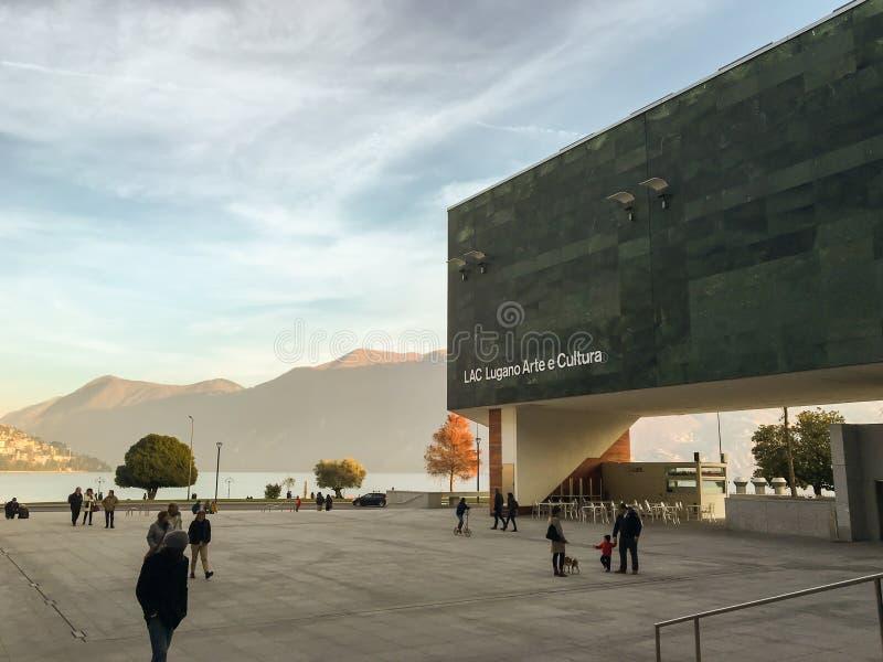 Lugano - Svizzera - 22 ottobre 2019 - LAC fotografia stock libera da diritti