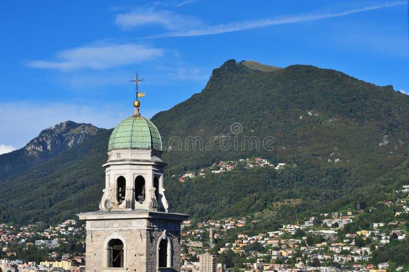Lugano wierza fotografia royalty free