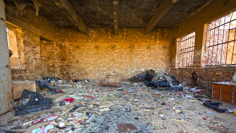 Lugar abandonado imagenes de archivo