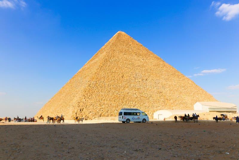 Lugar agradable del área de la pirámide en Egipto foto de archivo libre de regalías