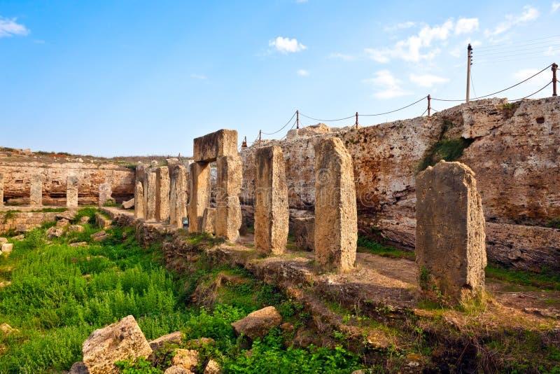 Lugar antiguo Amrit de Siria - de Tartus foto de archivo libre de regalías