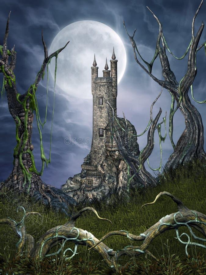 Lugar assustador 3 ilustração stock