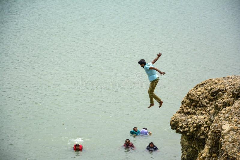 Lugar aventuroso - lago Khanpur, Paquistão imagens de stock royalty free