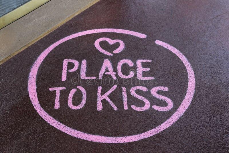 Lugar a beijar fotografia de stock royalty free