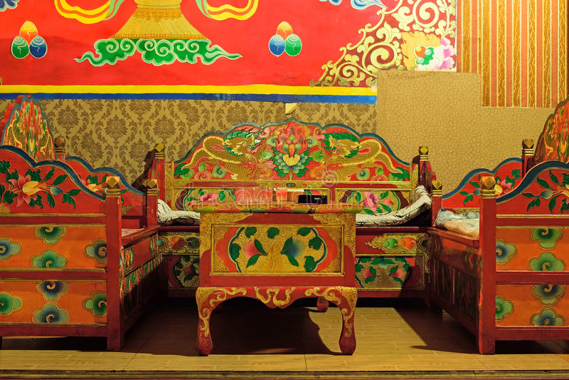Lugar chinês tibetano do chá imagem de stock royalty free