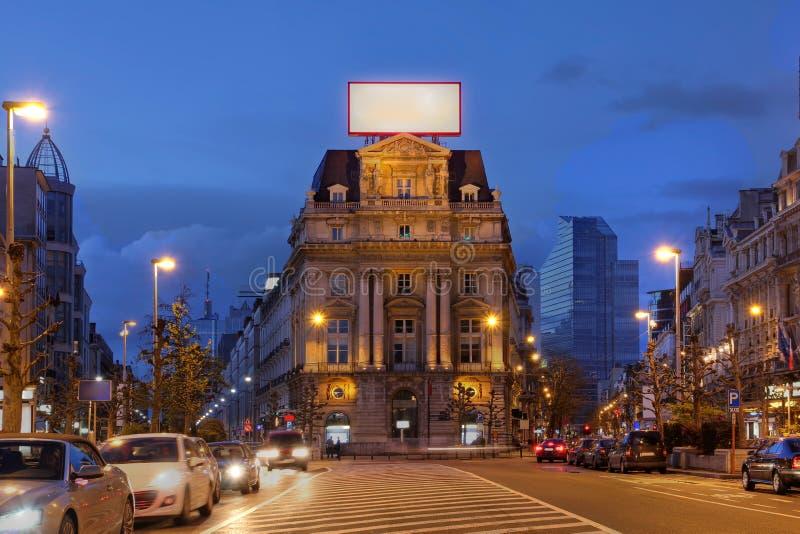 Lugar de Brouckere, Bruxelas, Bélgica imagens de stock
