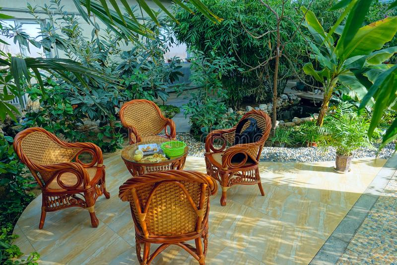 Lugar de descanso del jardín foto de archivo libre de regalías