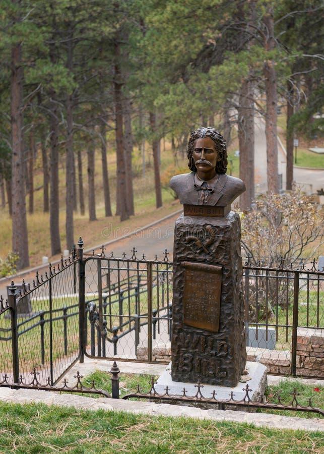 Lugar de enterramiento salvaje de Bill Hickok fotos de archivo