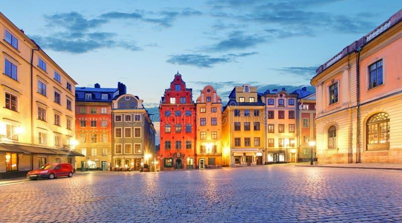 Lugar de Estocolmo - de Stortorget en Gamla stan fotos de archivo libres de regalías