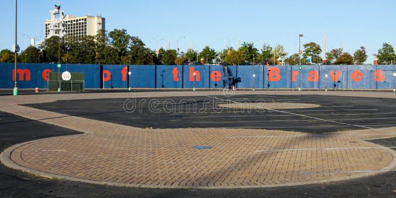 Lugar de Fulton County Stadium idoso, Atlanta, GA foto de stock