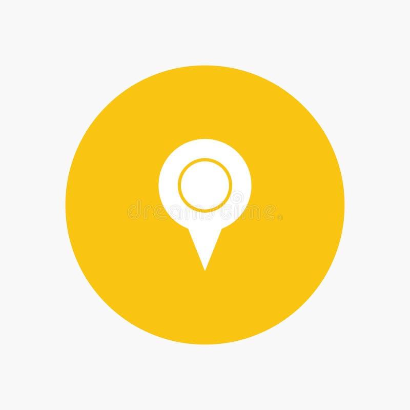 Lugar de Geo, lugar, mapa, Pin ilustração royalty free