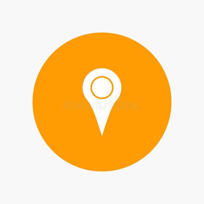 Lugar de Geo, lugar, mapa, Pin ilustração stock