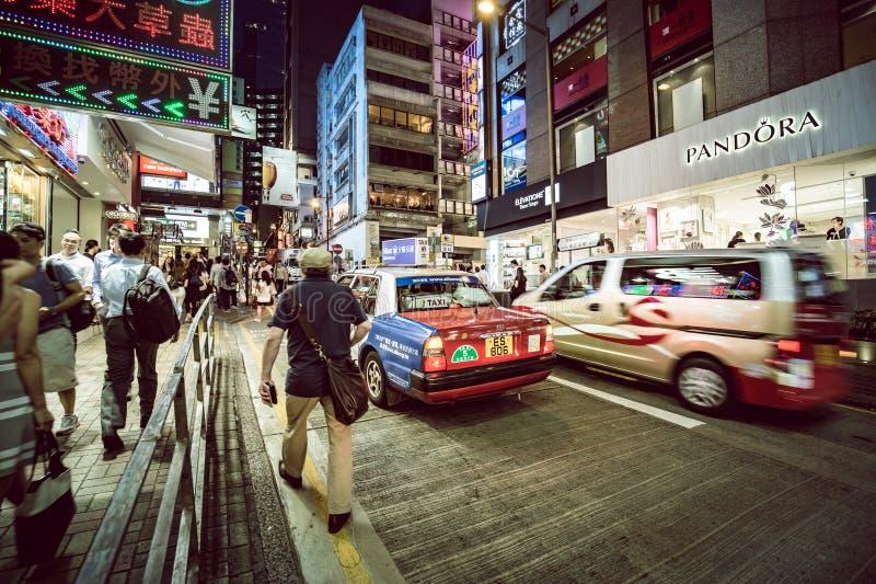 Lugar de Hong Kong Famous Nightlife - Lan Kwai Fong imagens de stock royalty free