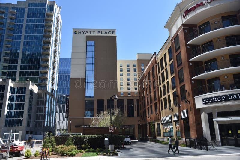 Lugar de Hyatt, Nashville do centro, TN imagem de stock royalty free