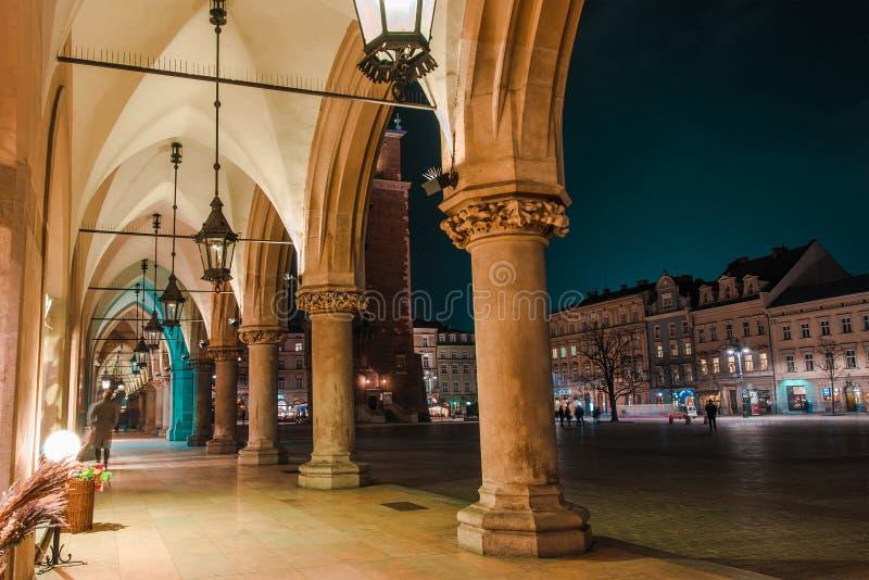 Lugar de Krakow Sukiennice foto de stock