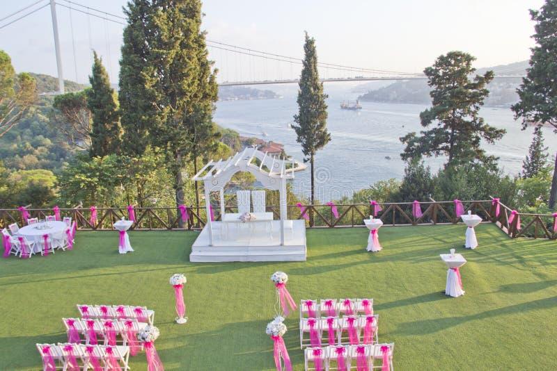 Lugar de la boda foto de archivo libre de regalías