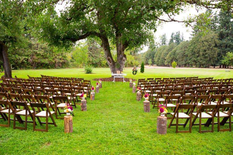 Lugar de la boda del país imagenes de archivo
