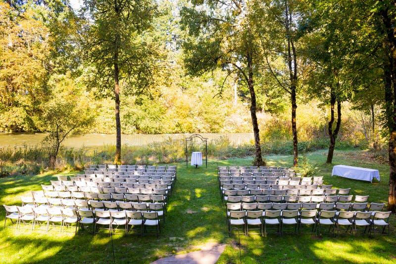 Lugar de la boda del país foto de archivo libre de regalías