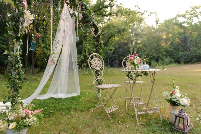 Lugar de la ceremonia de boda imágenes de archivo libres de regalías
