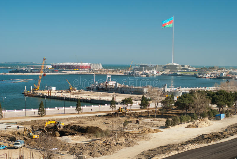 Lugar de la Eurovisión para 2012 imagen de archivo libre de regalías