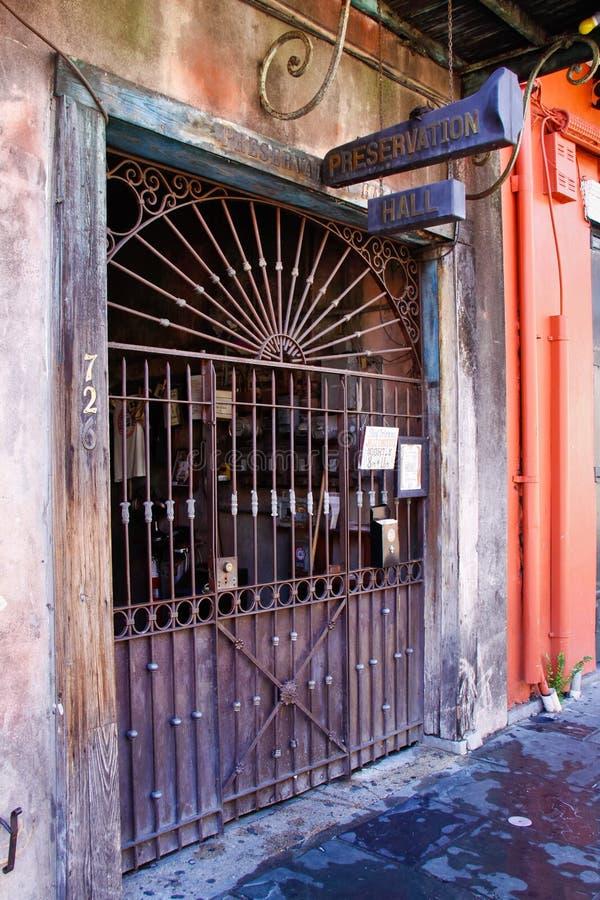 Lugar de la música de Pasillo de la preservación de New Orleans imagenes de archivo