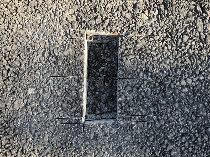 Download Lugar De La Muestra De Capa Concreta Del Asfalto Kern Foto de archivo - Imagen de mezcla, estándar: 100527302