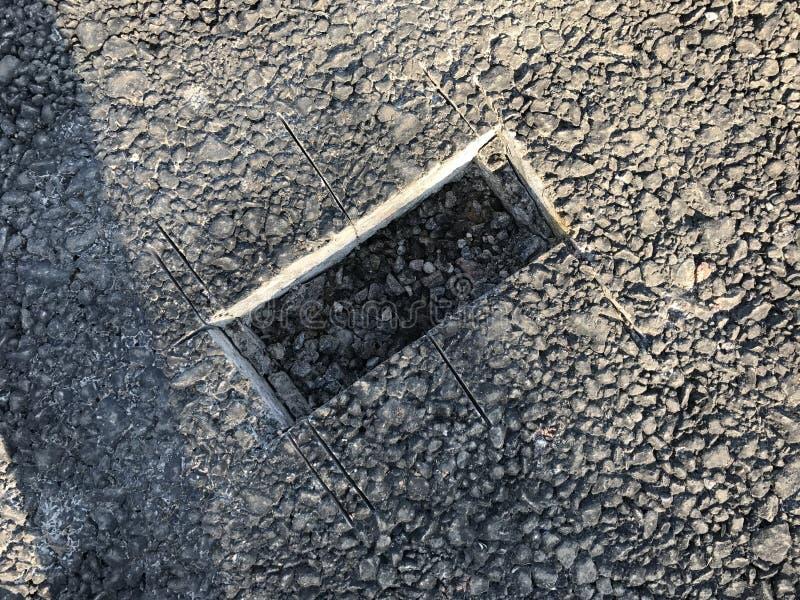 Download Lugar De La Muestra De Capa Concreta Del Asfalto Kern Imagen de archivo - Imagen de compactación, asfalto: 100527519
