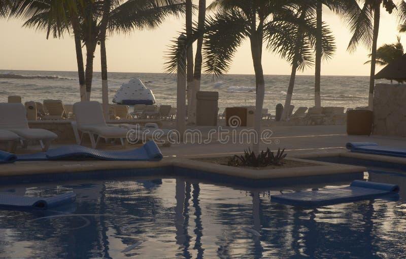 Lugar de la piscina fotos de archivo
