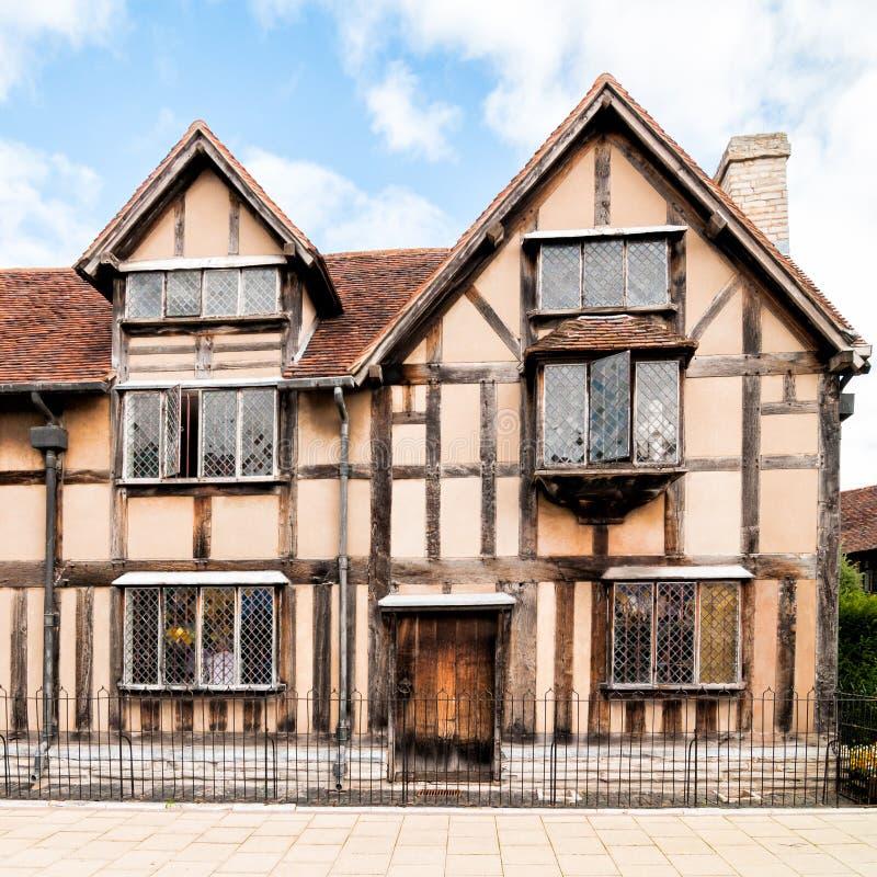 Lugar de nacimiento de la fachada de William Shakespeare fotografía de archivo