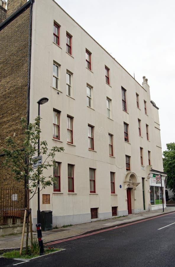 Lugar de nacimiento de Max Wall, Londres foto de archivo