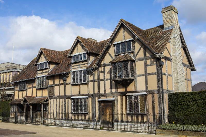 Lugar de nacimiento de Shakespeares en Stratford-Sobre-Avon fotografía de archivo