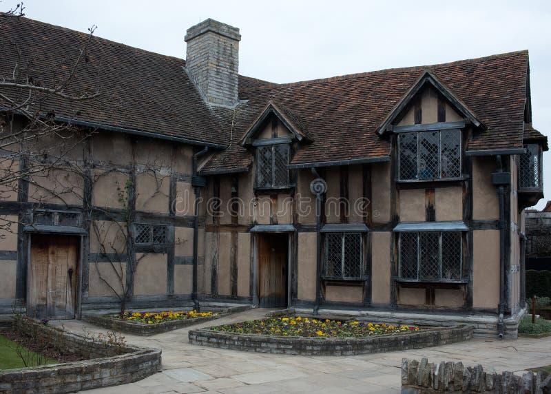 Lugar de nacimiento de Shakespeares, posterior foto de archivo libre de regalías