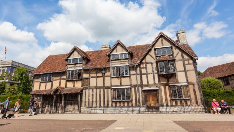 Lugar de nacimiento del ` s de Shakespeare en Stratford-sobre-Avon imagen de archivo