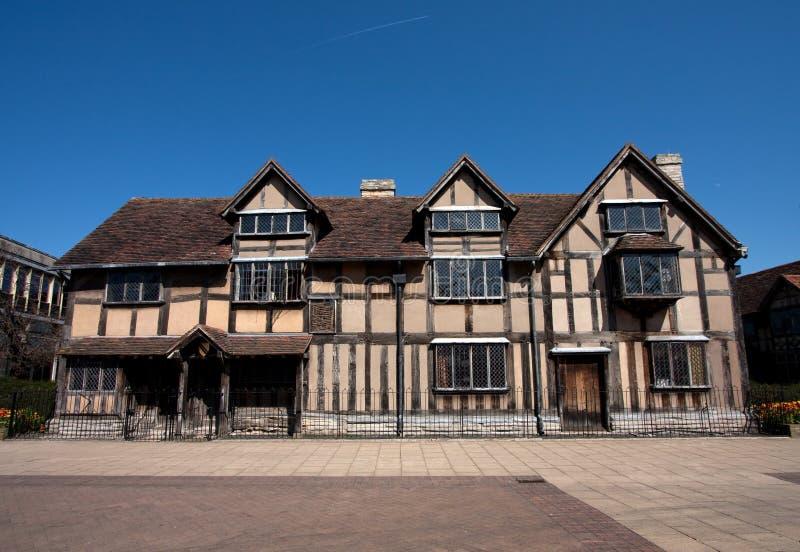 Lugar de nacimiento Stratford de Shakespeare sobre Avon imagen de archivo