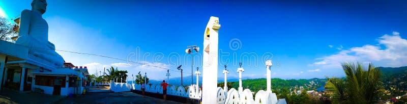 Lugar de Sri Lanka del punto de opini?n de Kandy el mejor para ver la ciudad de kandy en un lugar foto de archivo libre de regalías