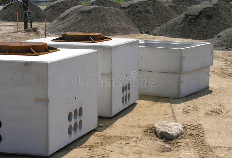 Lugar de trabajo de la construcción foto de archivo