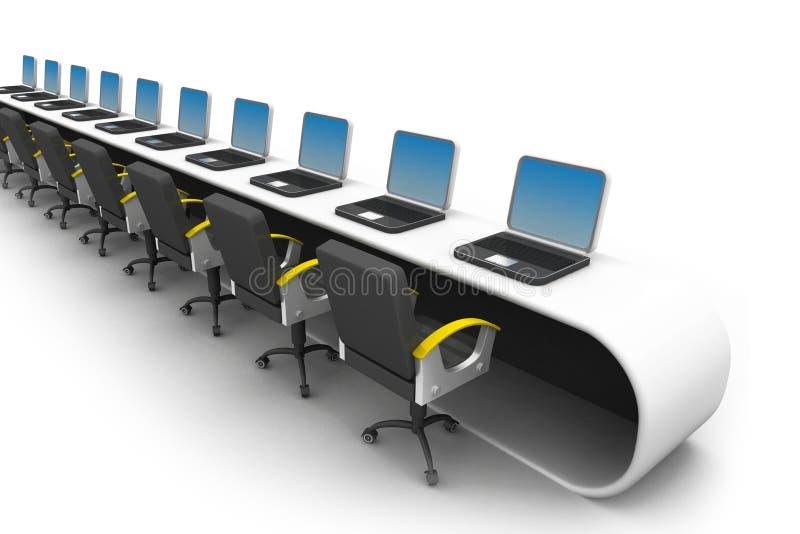 Lugar de trabajo de oficina stock de ilustración