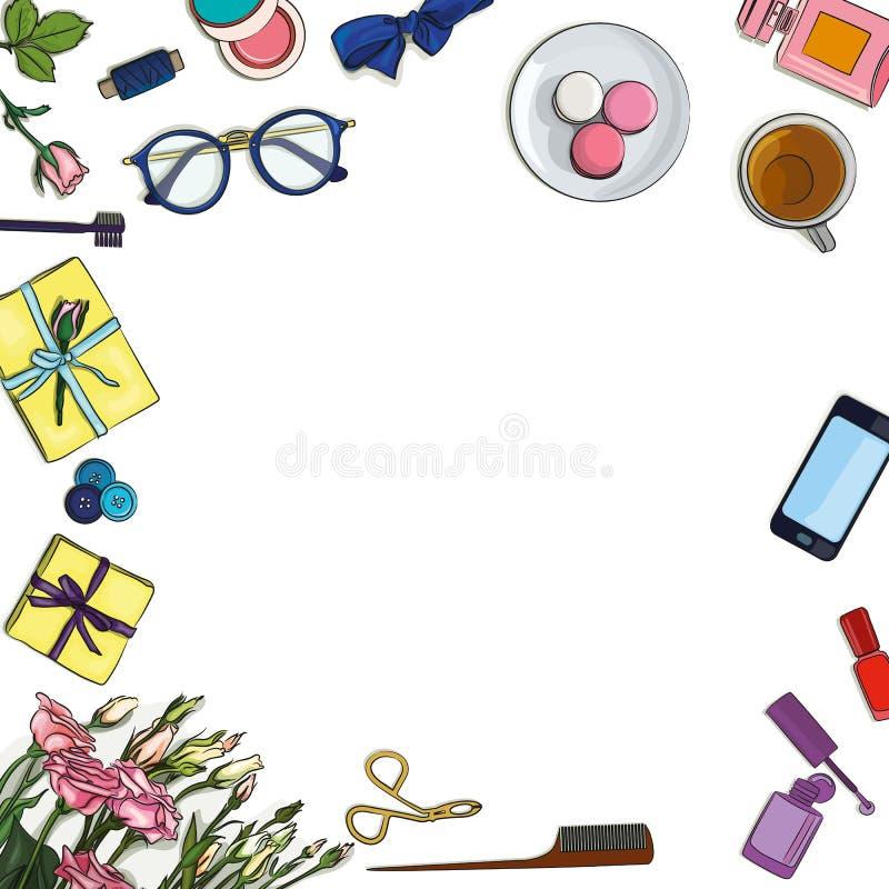 Download Lugar De Trabajo Del Desinger Ilustración del Vector - Ilustración de lámina, negocios: 100527776