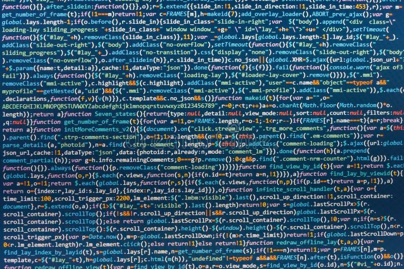 Lugar de trabajo del especialista de las TIC Concepto abstracto programado del algoritmo del flujo de trabajo stock de ilustración