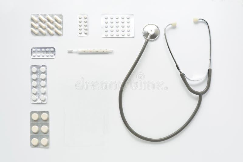 Lugar de trabajo del médico imágenes de archivo libres de regalías