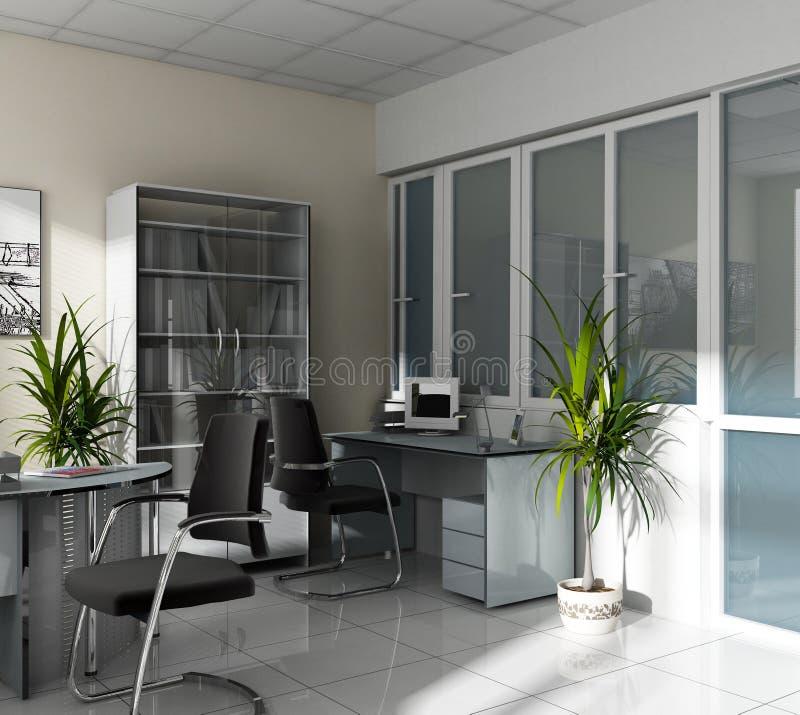 Lugar de trabajo en la oficina ilustración del vector