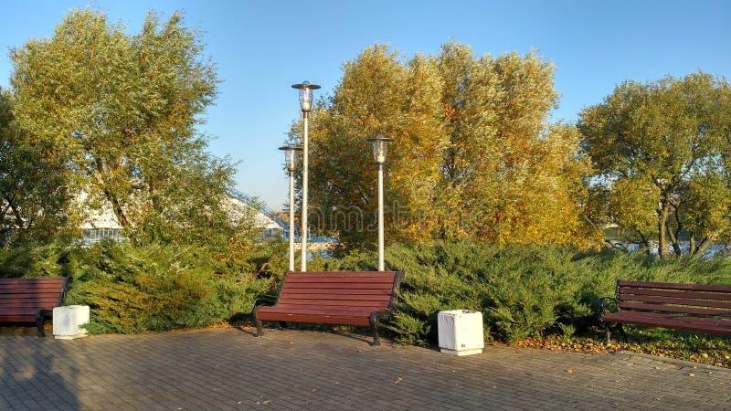 lugar de vacaciones en una isla de Minsk Bielorrusia imagen de archivo libre de regalías