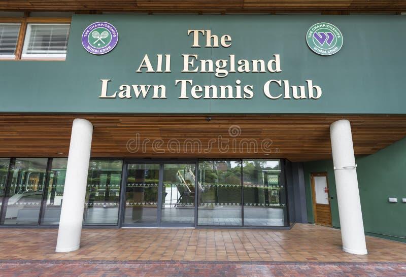 Lugar de visita de Wimbledon imagem de stock