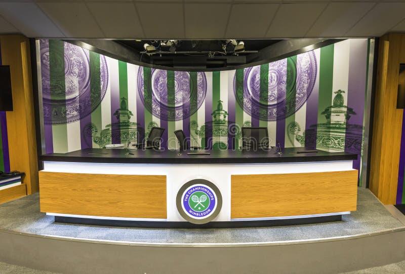 Lugar de visita de Wimbledon fotografia de stock