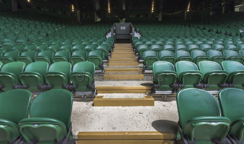 Lugar de visita de Wimbledon foto de stock