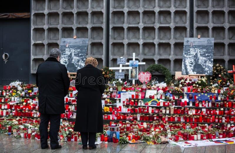 Lugar del acto del terrorista en Berlín el 19 de diciembre de 2016 fotografía de archivo libre de regalías
