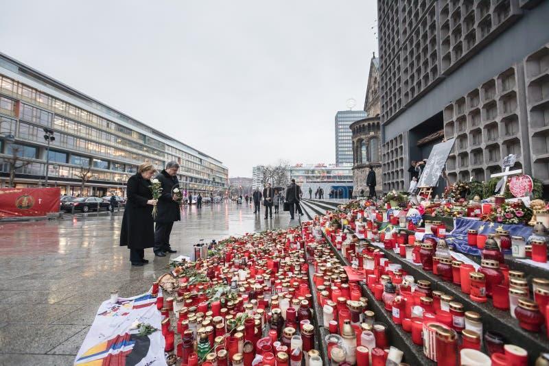 Lugar del acto del terrorista en Berlín el 19 de diciembre de 2016 fotos de archivo