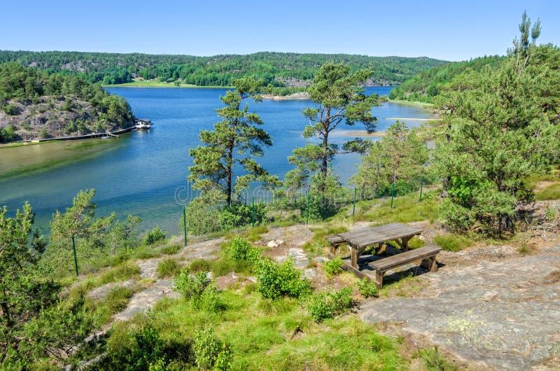Lugar del resto del verano en Suecia imagen de archivo libre de regalías