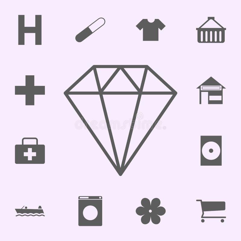 lugar do ícone da ourivesaria sinais do grupo universal dos ?cones dos pinos para a Web e o m?bil ilustração royalty free