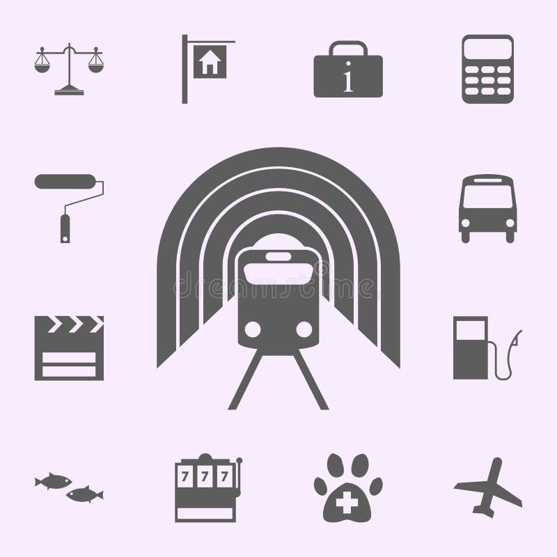 lugar do ícone do metro sinais do grupo universal dos ?cones dos pinos para a Web e o m?bil ilustração do vetor